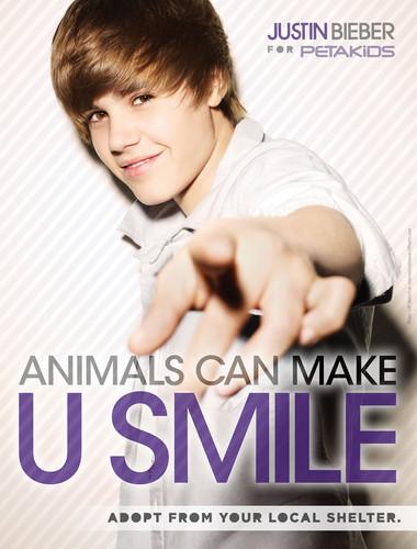Justin Bieber for peta2