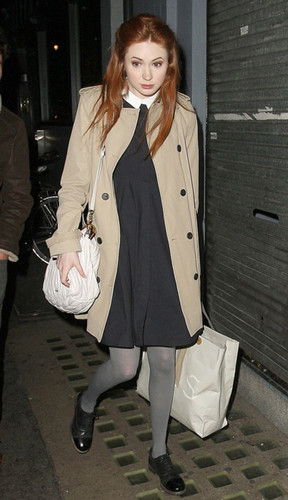 Karen Gillan candid London - Nov 2011
