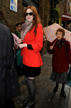 Karen Gillan candid London - November 2011