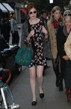 Karen Gillan candid in London Covent Garden Oct 2011