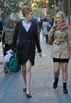 Karen Gillan in ロンドン candid October 2011