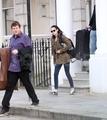 Kristen Stewart Spotted Leaving Robert Pattinson's London Home - November 16, 2011.
