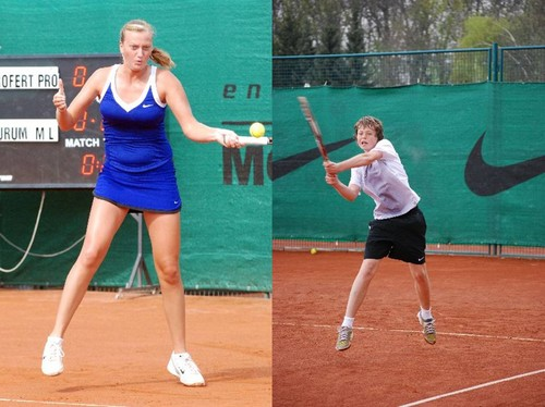 Kvitova (18) and Pavlasek (13) in 2008