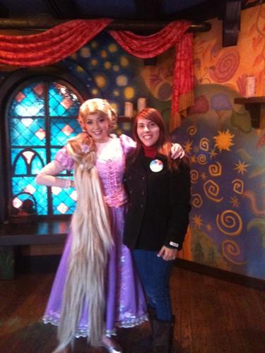 Meeting Rapunzel at Disneyland (California)