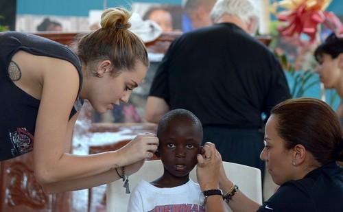 Miley In Haiti:)
