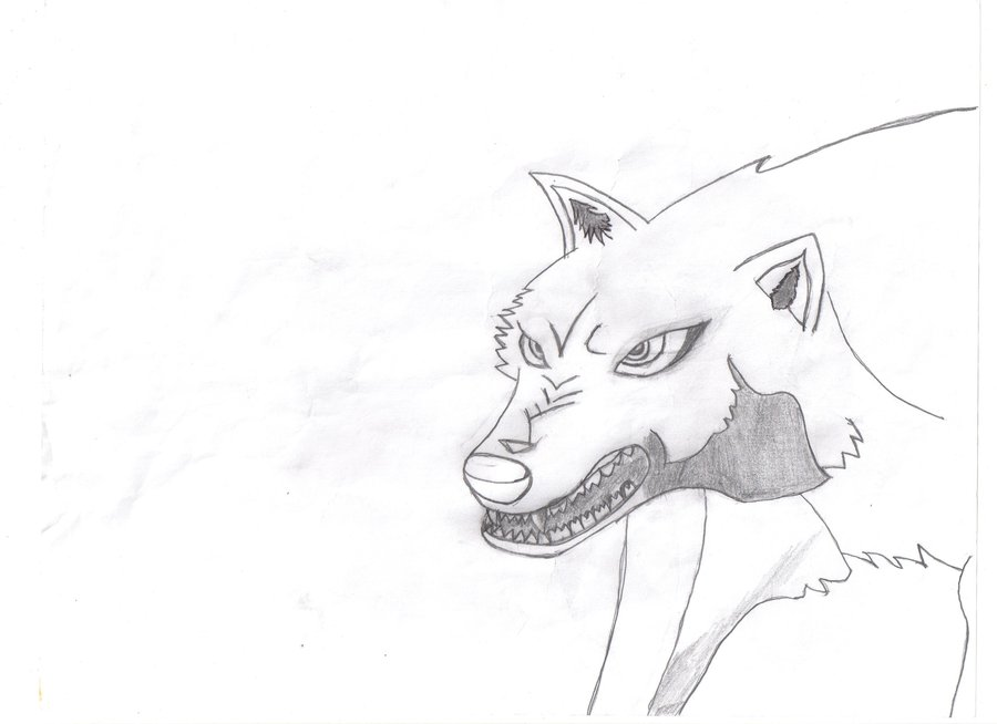 My first anime wolf