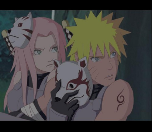 NARUTO AKKIPUDEN-  Sakura and Naruto anbu mission - naruto-shippuuden Photo