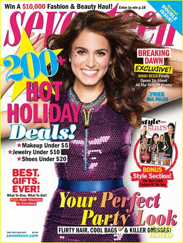 "Nikki on the cover of ""Seventeen"" magazine - December/January issue [+ outtake]"