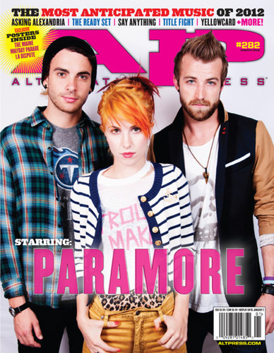 Paramore on the cover of Alternative Press