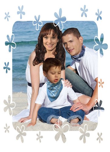 Prison Break - Michael Scofield and his little son MJ