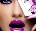 Purple Lips - lips photo
