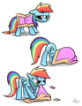 Rainbow Dash In Nyan Costume