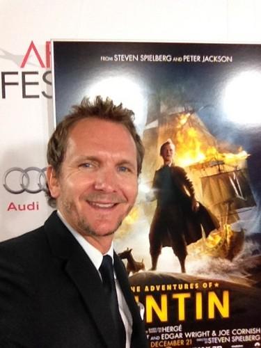 Seb at Tintin Premiere