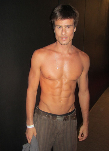 Six-Packs Backstage At Fashion Rio