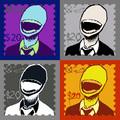Slender man stamps