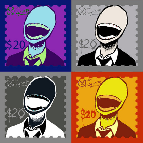 The Slender Man wallpaper entitled Slender man stamps