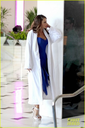 Sofia Vergara takes a break from reportedly filming a Pepsi commercial in Miami ( November 14 )