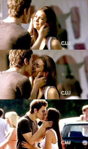 Stefan & Elena wallpaper containing a basketball player called Stefan and Elena <3