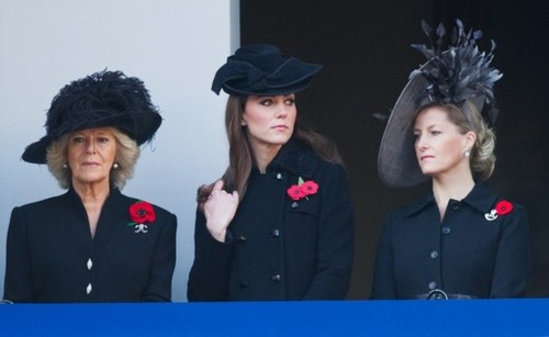 The Royal Family attend the Remembrance dag Ceremony at the Cenotaph