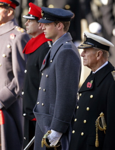 The Royal Family attend the Remembrance Day Ceremony at the Cenotaph