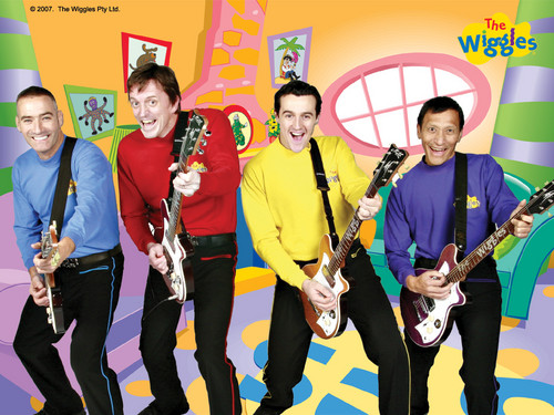 The Wiggles With Guitars In Wiggle House