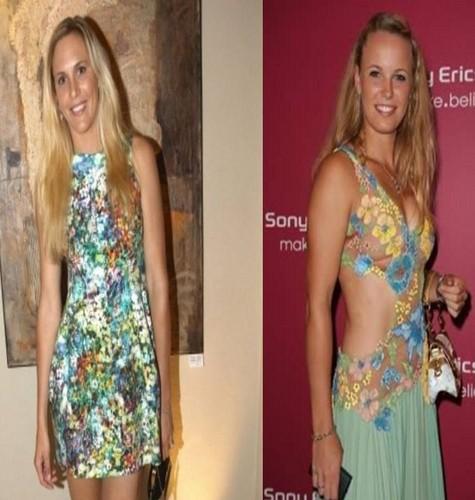 Vaidisova look alike with Wozniacki