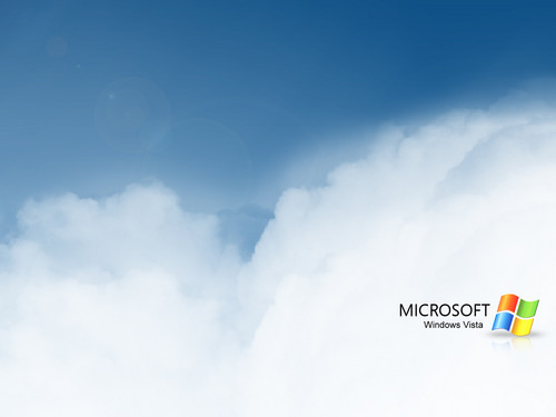 Windows 7 壁紙 titled Vista Clouds