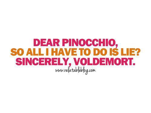 Voldemort's letter