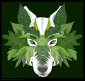Wolf Masked Of Many Leaves