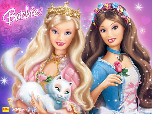 Barbie Princess and the Pauper wallpaper called anneliese-and-erika-barbie-princess-and-the-pauper