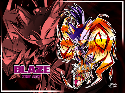 Blaze the Cat wallpaper containing anime called burning blaze