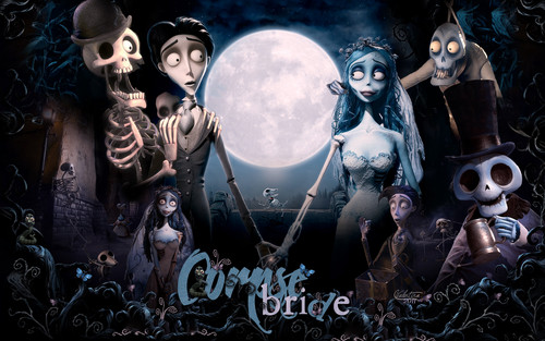 Halloween wallpaper probably with anime entitled corpse bride