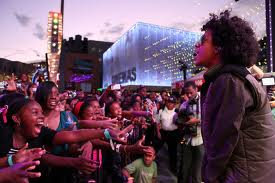 prince near the fans