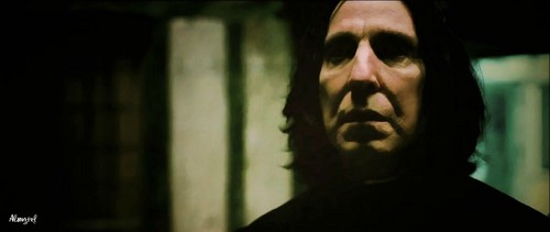 severus snape looking very sad.