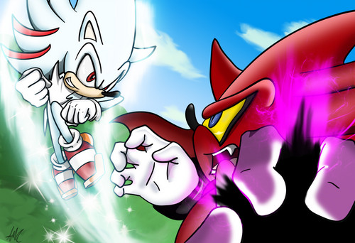 Shadow The Hedgehog wallpaper entitled sonic and shadow mixed