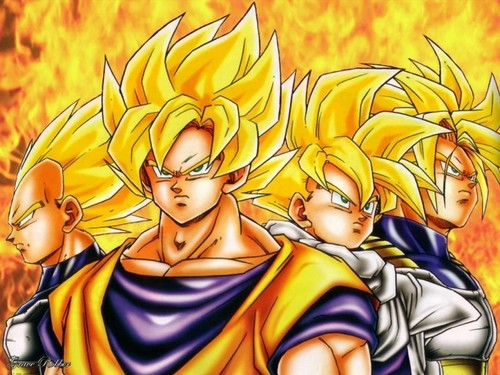 Dragon Ball Z wallpaper containing anime called team of saiyans