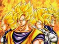 dragon-ball-z - team of saiyans wallpaper