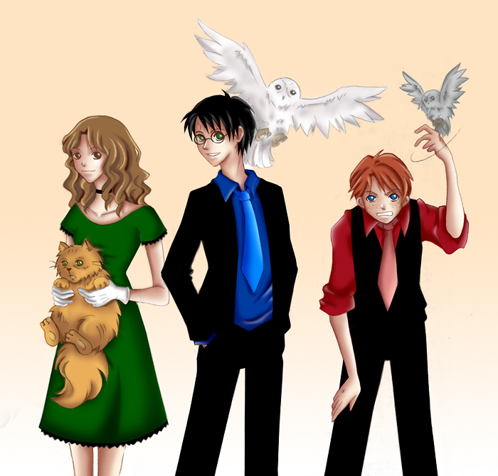 Semanas Voadoras: Harry Potter - Fan Arts Harry Potter Trio Fan Art