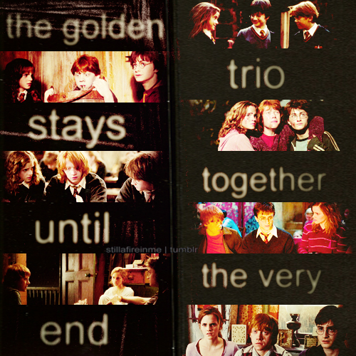 the golden trio stays together until the very end