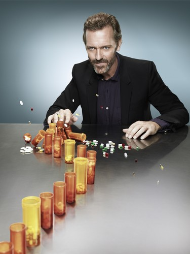 'House MD' Season 8 Promotional Photoshoot ~ Dr Gregory House & Pill Bottles (HQ)