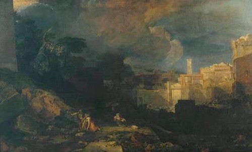 """Tenth Plague of Egypt"" (1802) سے طرف کی J.M Turner"