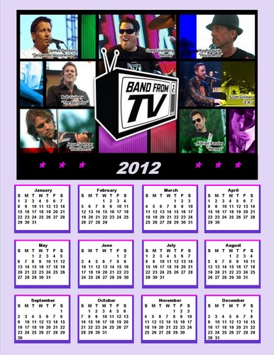 2012 Band From TV Calendar
