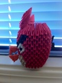3D Origami Angry Bird