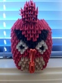 3D Origami Angry Bird - origami fan art