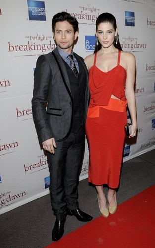 "Ashley Greene and Jackson Rathbone at the premiere of ""The Twilight Saga: Breaking Dawn Part 1"""