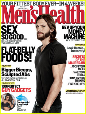 Ashton Kutcher Covers 'Men's Health' December 2011