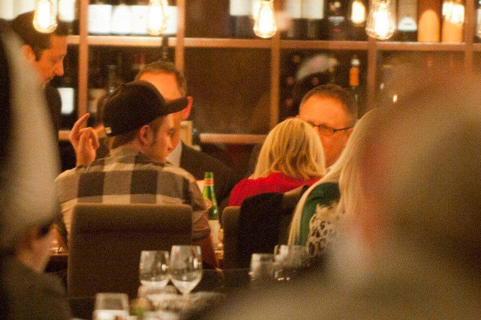 At Bocca di Bacco Restaurant in Berlin (November 18, 2011)