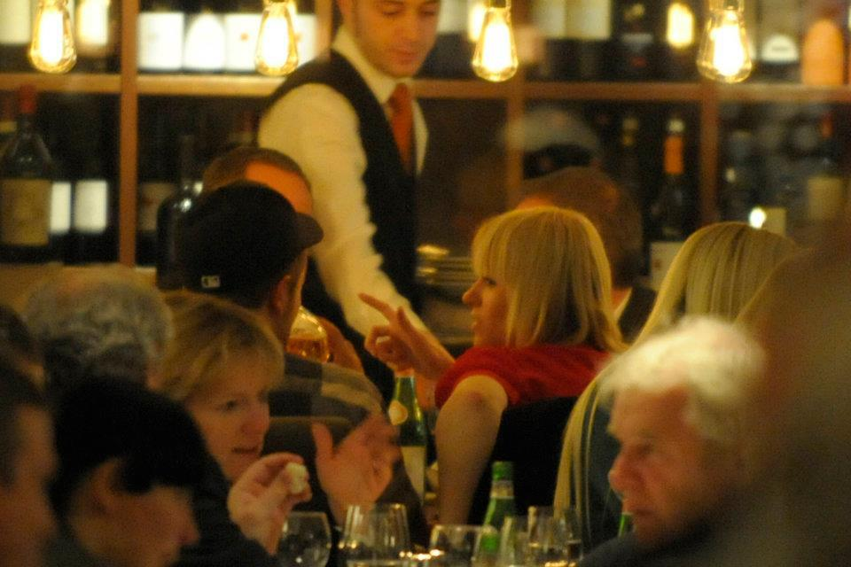 At Bocca di Bacco Restaurant in Berlin (November 18, 2011)