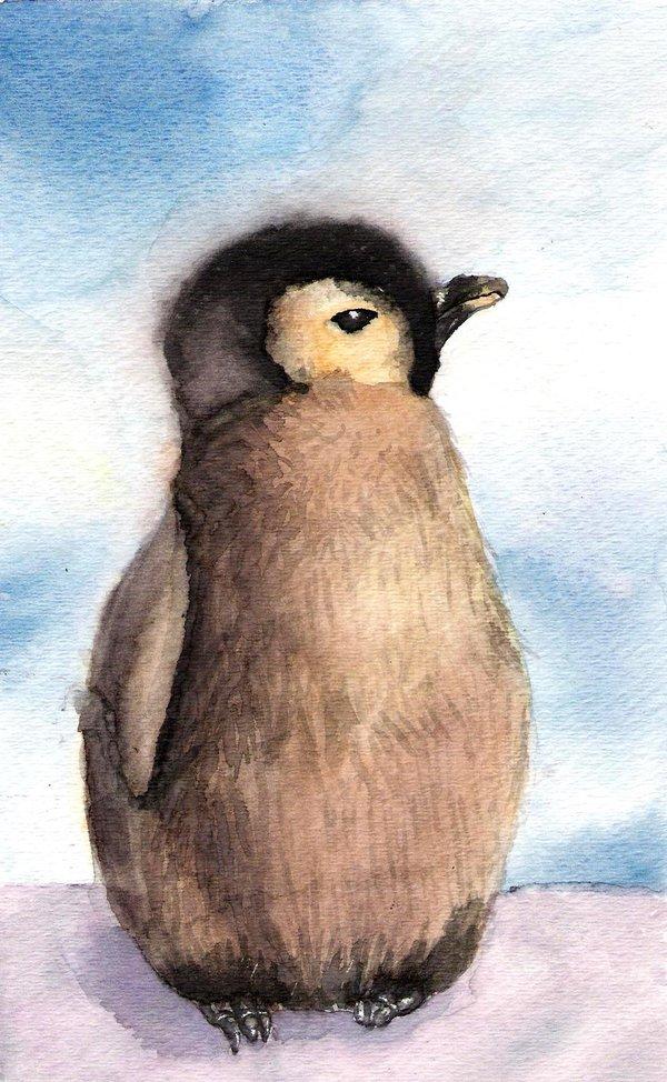 Baby penguin art - photo#3
