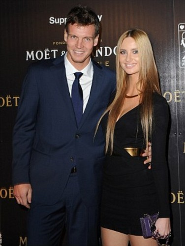Berdych and Satorova November 2011